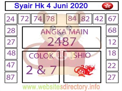 Syair Hk 4 Juni 2020