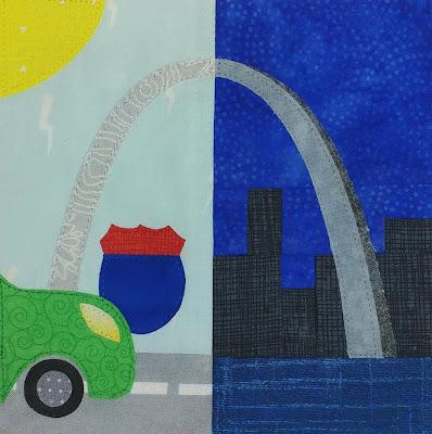 Missouri quilt block - 50 US states tour