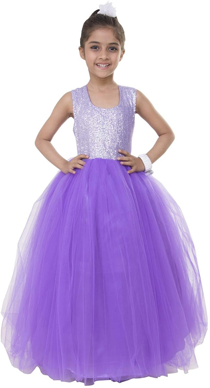 Samsara Couture Girl's Sequin Ball Gown Dress