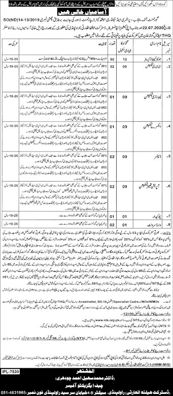 Govt-of-Punjab-Primary-Secondary-Healthcare-Department-Jobs-Sept-2020