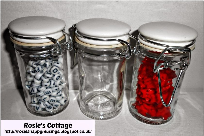 George At Asda Spice Jars Used As Bead And Button Storage