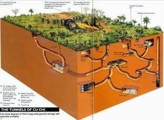 terowongan cu chi tunnel vietnam perang vietkong amerika