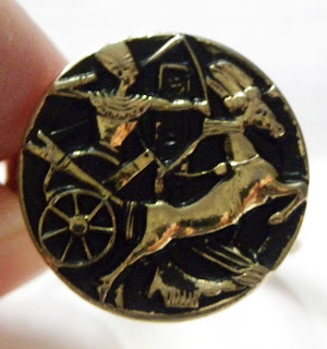 Egyptian king on chariot ring