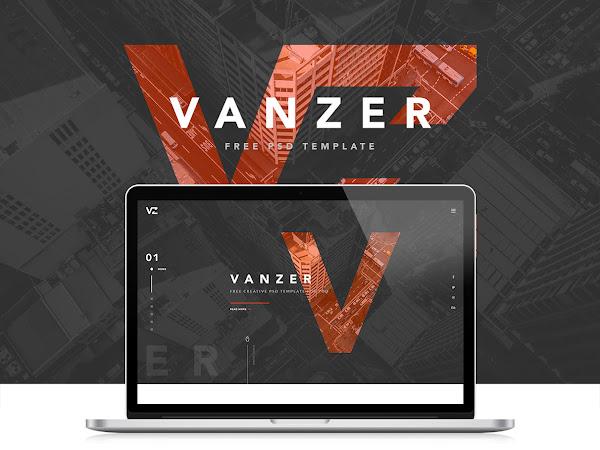 Download Vanzer PSD Portfolio Website Free