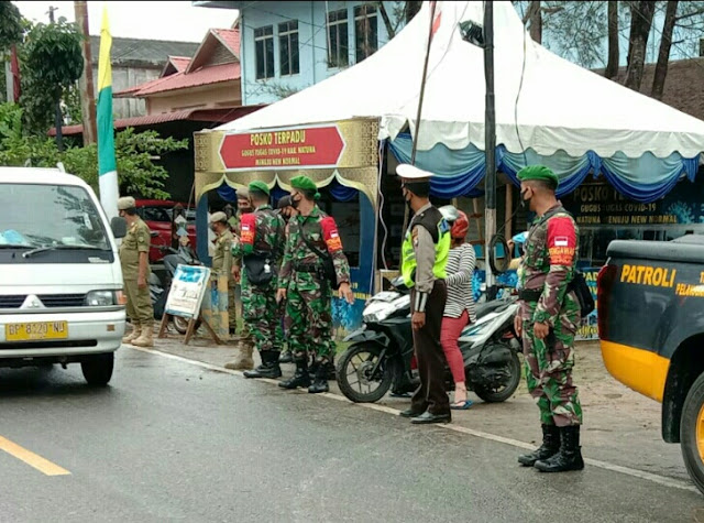 Danramil 01/Ranai Pimpin Apel Operasi Yustisi Penegakan Perbup Natuna Nomor 51 Tahun 2020