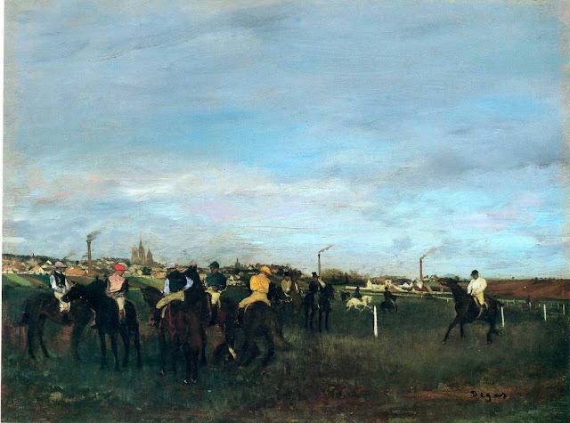 Эдгар Дега - Перед скачками (1871-1872)