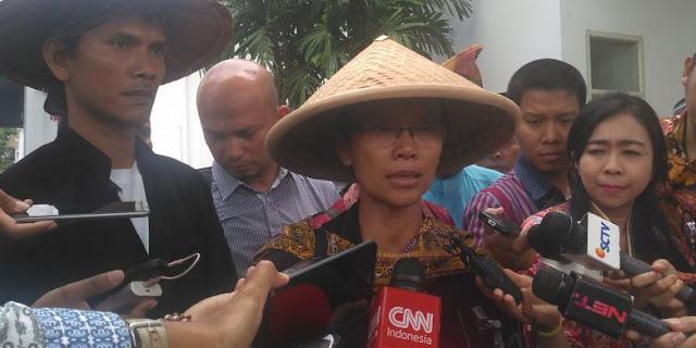 Bertemu Jokowi, Petani Kendeng Ini Menangis Tuntutannya Tak Dipenuhi