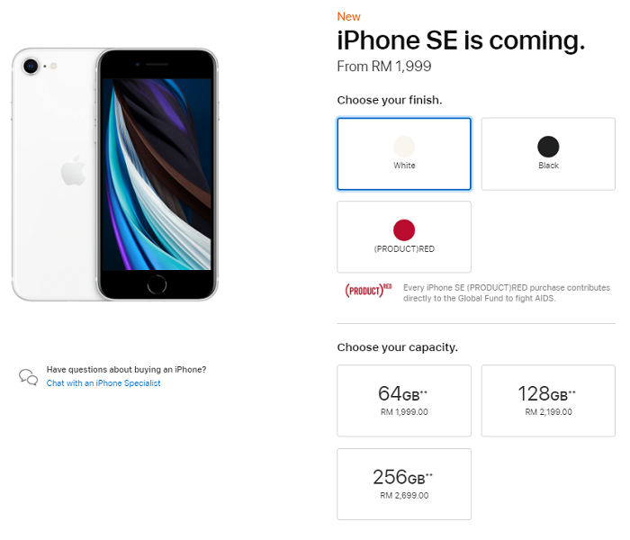 Apple iPhone SE Is Now Available In Malaysia For RM1,999 Specs and Pricing