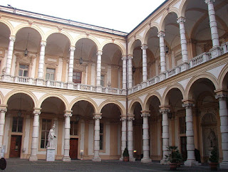 An internal quadrangle at the University of Turin, where Sobrero was a student and later a professor