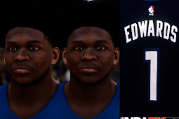 NBA 2K21 Anthony Edwards Cyberface by Shuajota