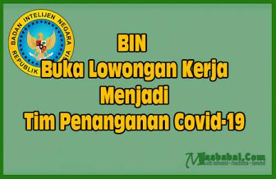Cara Mendaftar Tim Penanganan COVID-19 Oleh BIN