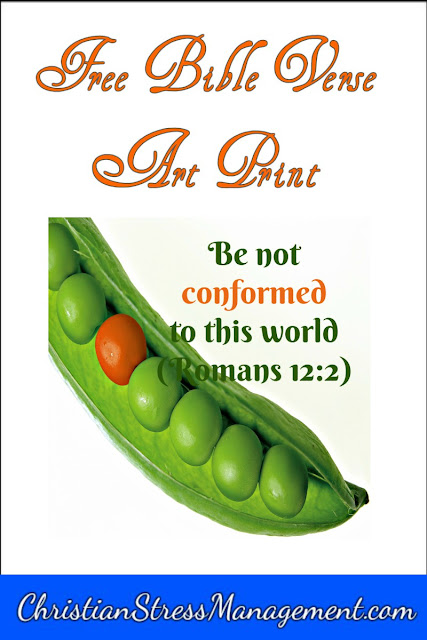 Be not conformed to this world (Romans 12:2) Bible verse art print