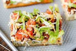Taco Pizza Recipe #healthy #taco