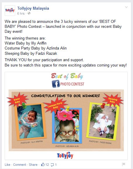Baby Contest Tollyjoy