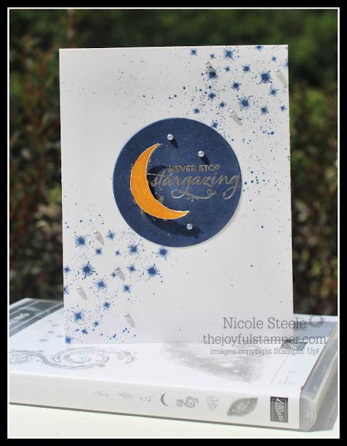 clean and simple Stargazing card | Stampin' Up! products | by Nicole Steele The Joyful Stamper