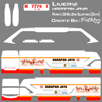 Livery Harapan Jaya Avante D2