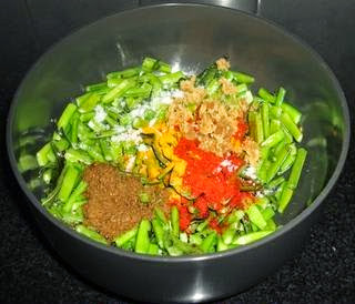 make tempering and add the cluster beans