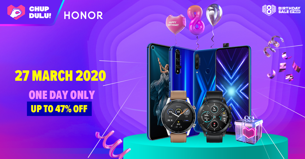 HONOR Celebrates Lazada's 8th Birthday with Awesome One-Day Deals