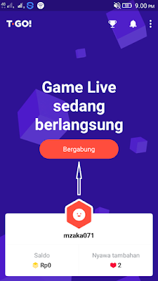 Cara Mengikuti Kuis di Aplikasi T-GO Android