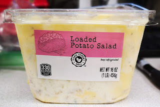 Side view of the packaging to Park Street Deli Loaded Baked Potato Salad, from Aldi