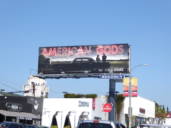 American Gods series launch billboard