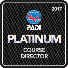 Camille received 11th consecutive Platinum PADI Course Director rating