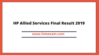 HP Allied Services Final Result 2019