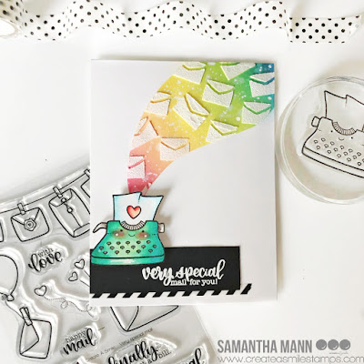 Very Special Happy Mail for You Card by Samantha Mann for Create a Smile Stamps, Cards, Handmade Cards, Card Making, Distress Inks, Embossing Paste, Stencil, #createasmile #createasmilestamps #cardmaking #cards #handmadecards #distressinks #inkblending