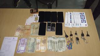 क्राईम ब्रांच एवं बरगी पुलिस का जुए के फड़ पर छापा,7 जुआड़ी गिरफ्तार