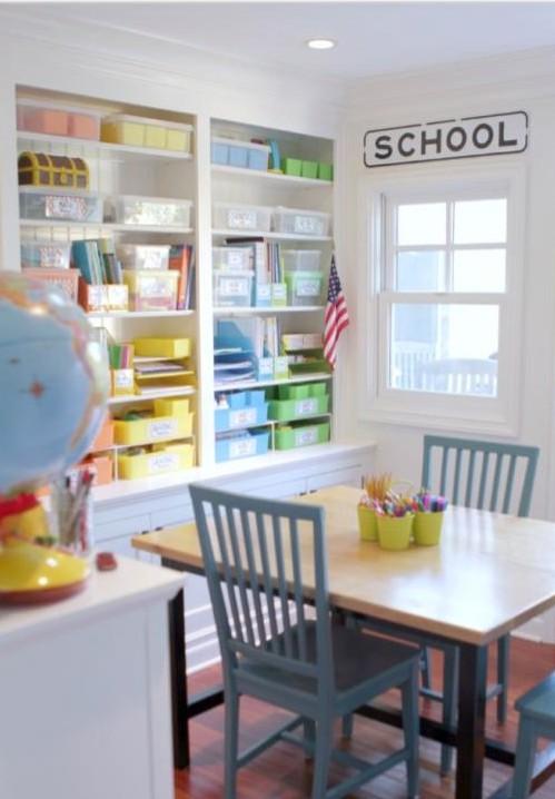 all age appropriate homeschool classroom idea