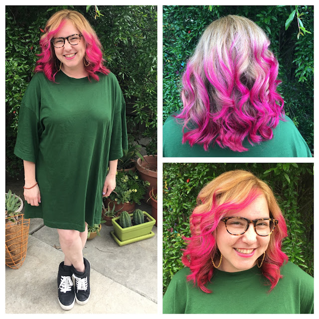 Jamie Allison Sanders, pink hair, Pretty in Pink, Pulp Riot Hair Color in Cupid, Erin Sanders, haircolor, hair color, hairstyle, hairstylist, On Wednesdays We Wear Pink