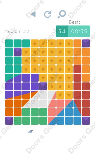 Cheats, Walkthrough for Blocks and Shapes Medium Level 221