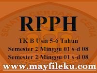 Unduh RPPH TK B Usia 5-6 Tahun Semester 2 Minggu 01 s-d 08