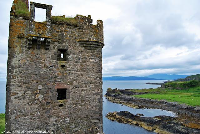Gylen Castle en isla de Kerrera, Escocia