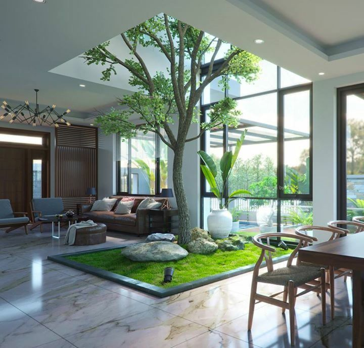 80 Desain Taman Indoor, Penyejuk Alami Interior Rumah - Rumahku Unik