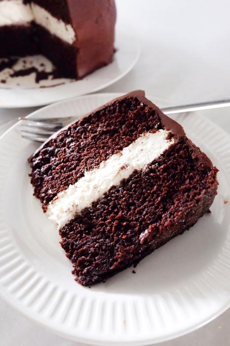 slice of big wheel cake on plate