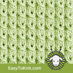 Textured Knitting 7: Yarn over Mock Cable, combines cabling, ribbing, and lace. | Easy to knit #knittingstitches #knittingpattern
