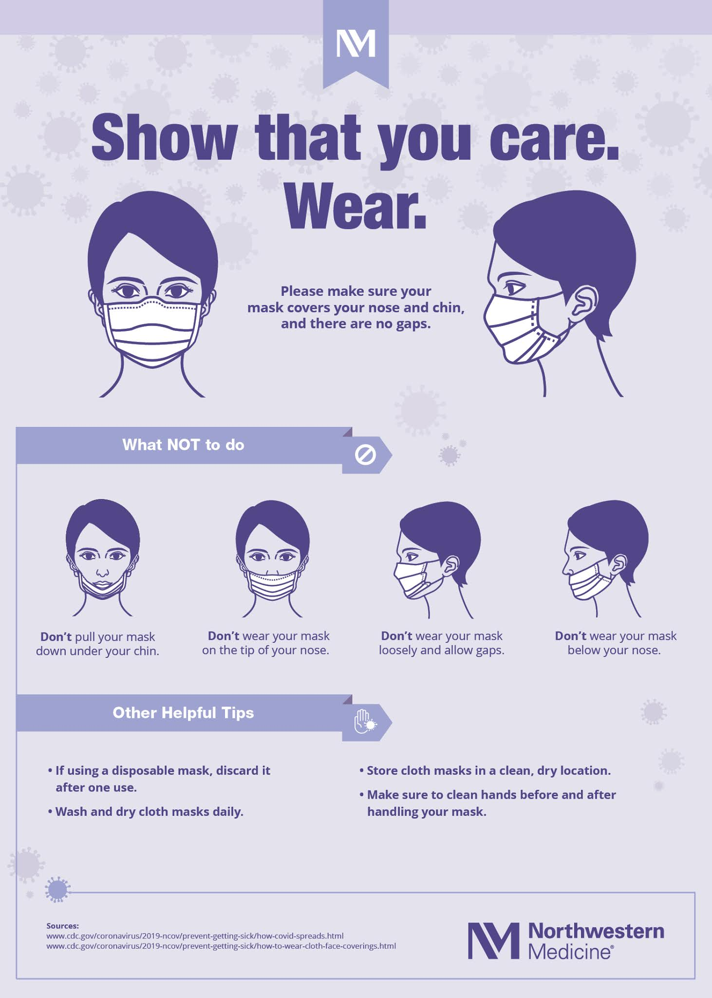 How to Wear a Face Mask #infographic #Health #Face Mask #How to Wear