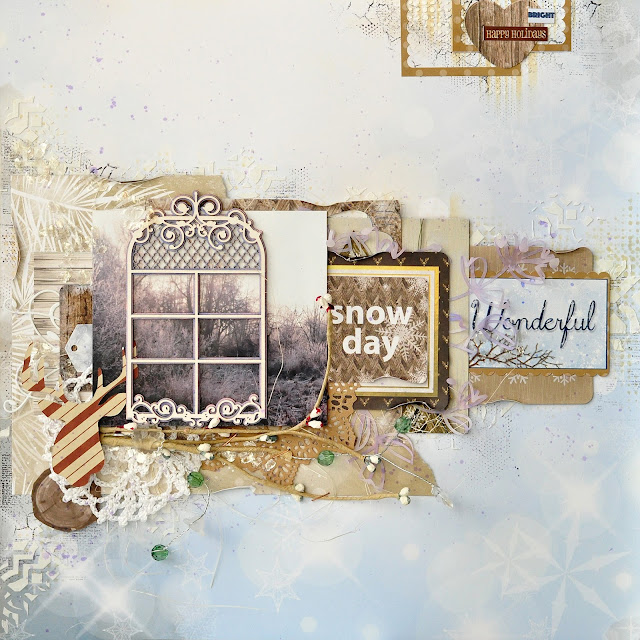 wonderful snow day @akonitt #layout #by_marina_gridasova #bobunny #sleighride #winterlayout #scrapbooking