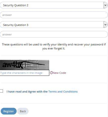 captcha and security questions