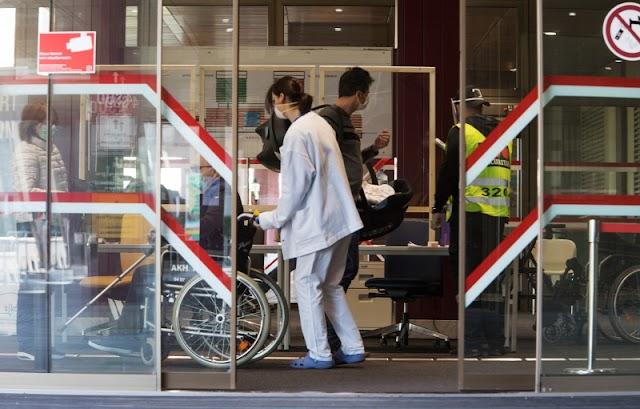 Kapacitása határán az egyik koronavírus fertőzötteknek fenntartott kórház Bécsben