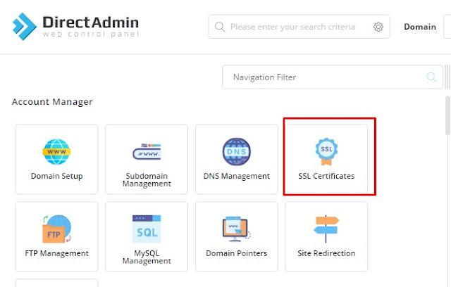 How to install Free SSL Direct admin