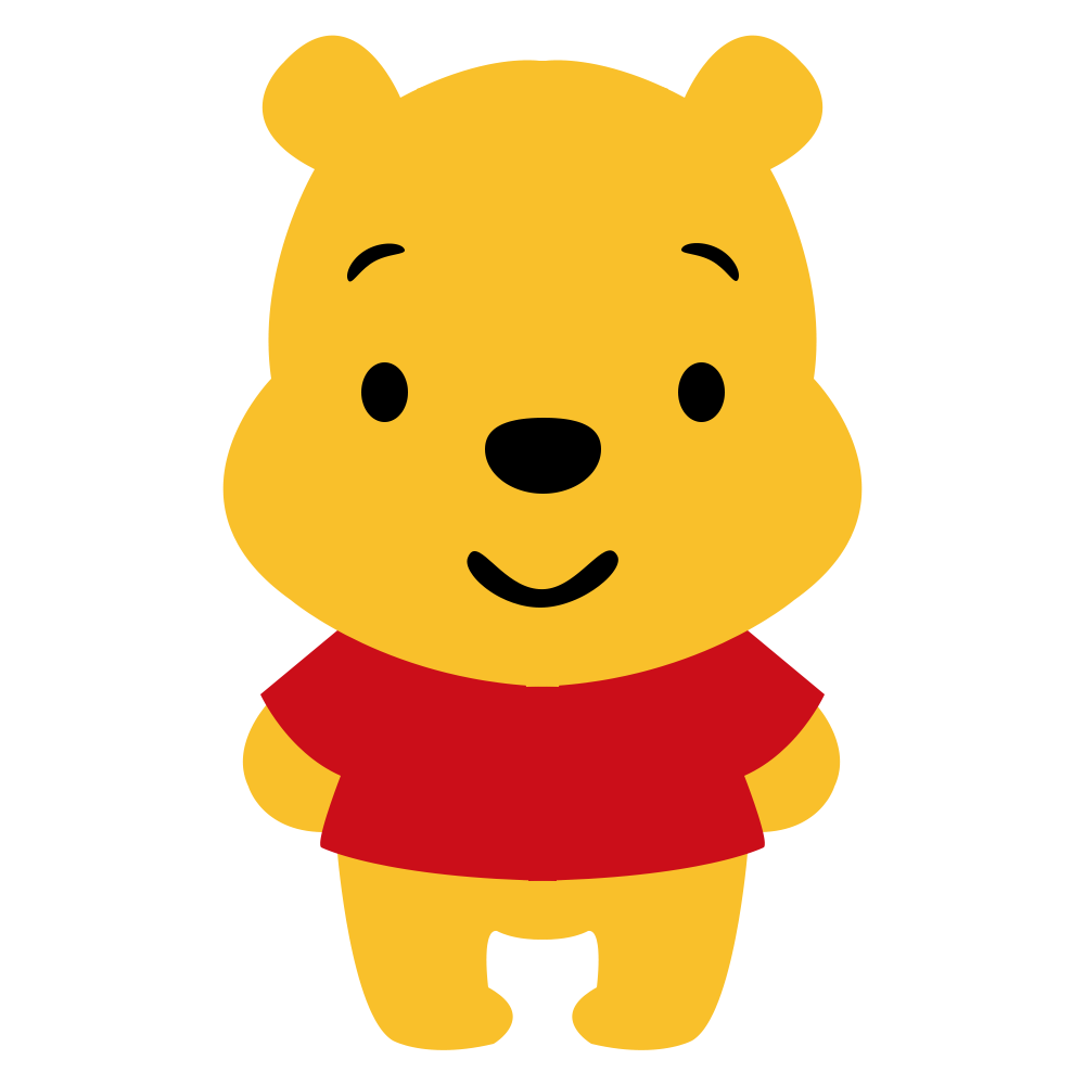 Winnie The Pooh Cartoon Vector PNG