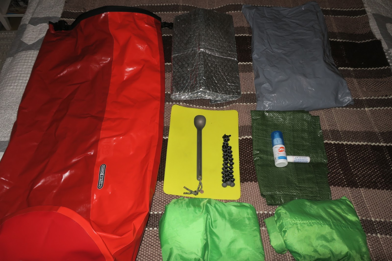 f736cb1bf926 Below  70ltr Osprey Aether backpack. The Toiletries will go inside the dry  sack near the top of the bag
