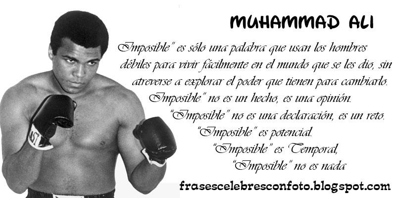 Muhammad Ali Imposible Es Sólo Una Palabra