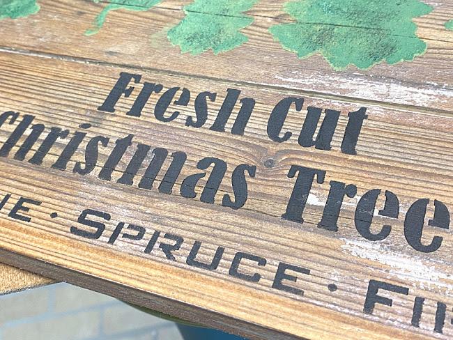 Fresh Cut Stenciled Christmas Sign