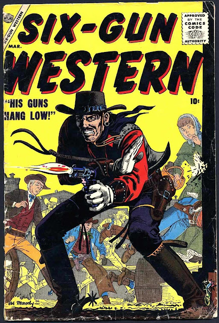 Joe Maneely SIX-GUN WESTERN march 1957