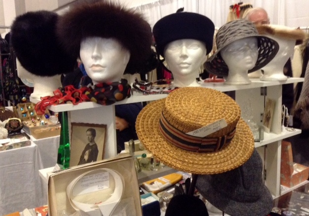 Vintage hats at the Ottawa Vintage Clothing Show
