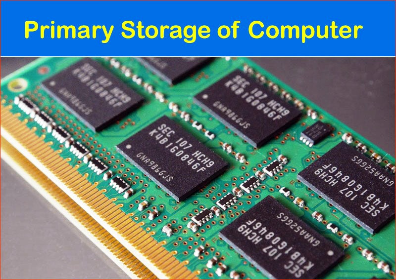 Primary Storage or memory of Computer