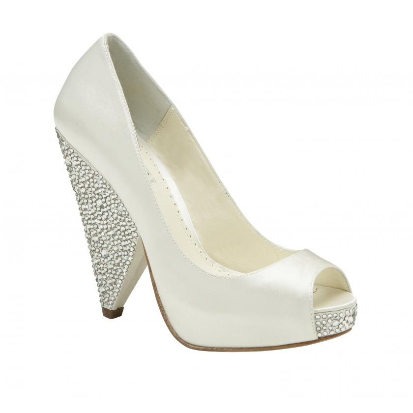 Benjamin Adams Rhiana Ivory Wedding Shoes